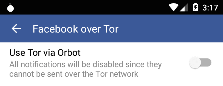 facebook-android-tor