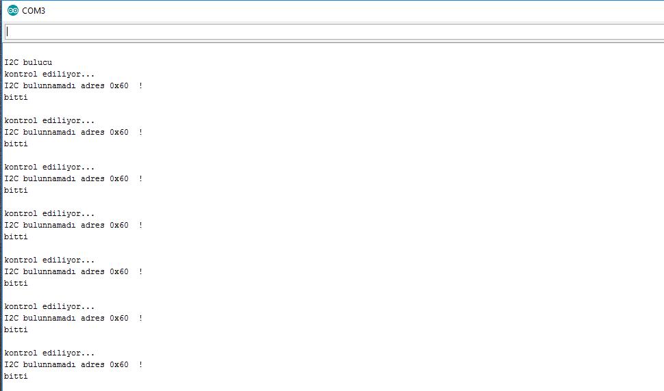 Arduino ile i2c adresinin tespiti