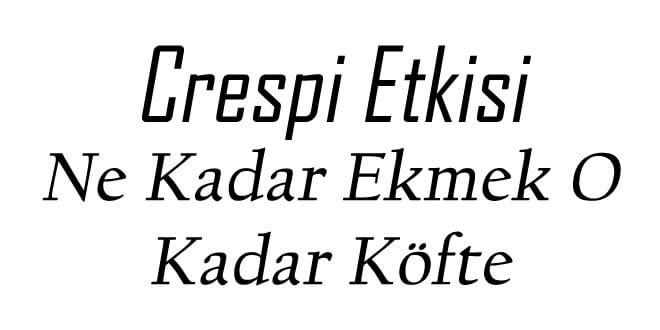 Photo of Crespi Etkisi ve Özellikleri