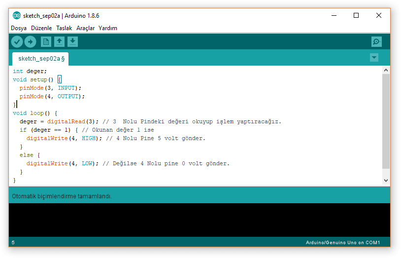 arduino digitalRead fonksiyonu