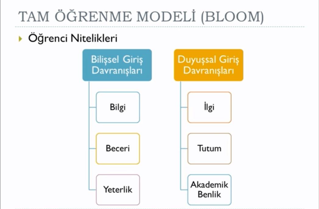 Bloom Taksonomisi